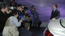 Nissan's Carlos Ghosn at New York Auto Show 2006