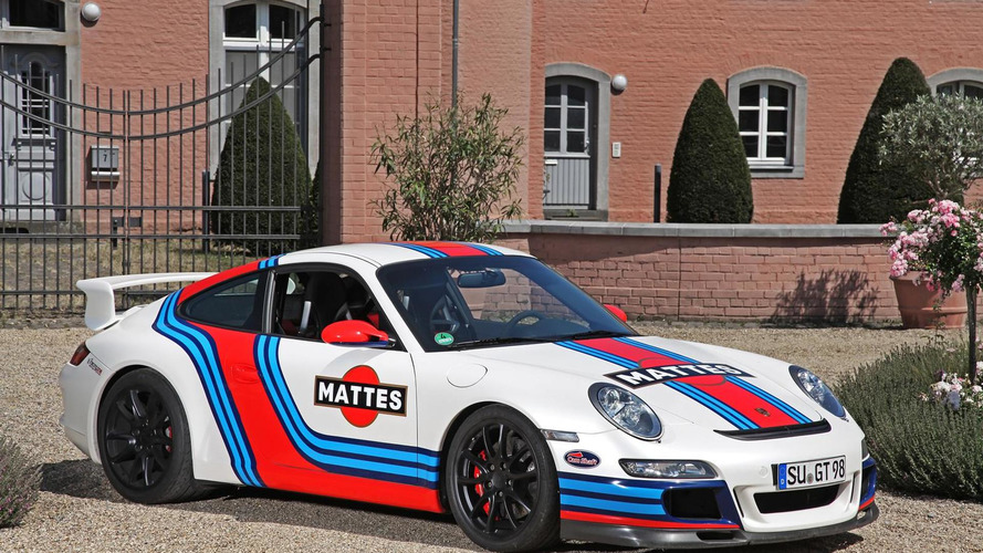 Porsche 997 GT3 wearing Martini livery tuned by Cam Shaft