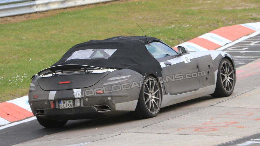Mercedes SLS AMG Roadster latest spy shots on the Nurburgring Nordschleife
