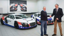 Hand-over of the Audi R8 LMS to United Autosport 08.03.2010