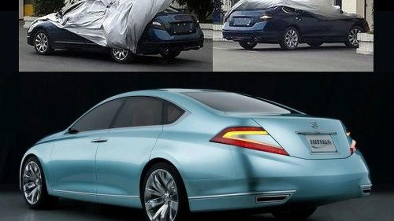 Nissan Intima spy photos and 2007 Nissan Intima Concept