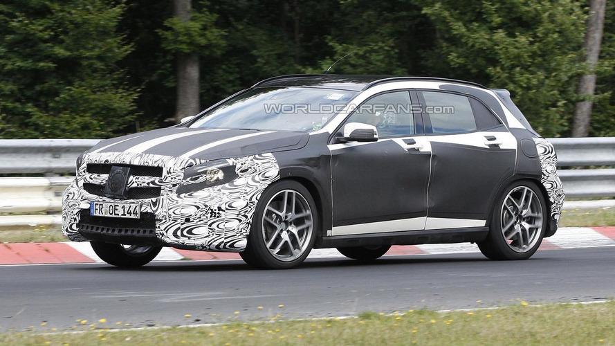Mercedes-Benz GLA 45 AMG returns in new spy shots
