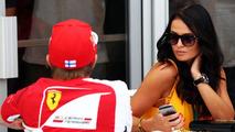 Kimi Raikkonen (FIN) Ferrari with his girlfriend Minttu Virtanen (FIN) / XPB