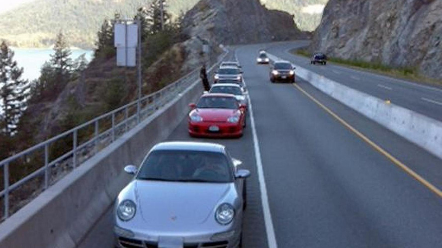 Four Porsches impounded on the Sea-to-Sky Highway in Canada