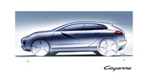 2011 Porsche Cayenne design sketch 25.02.2010