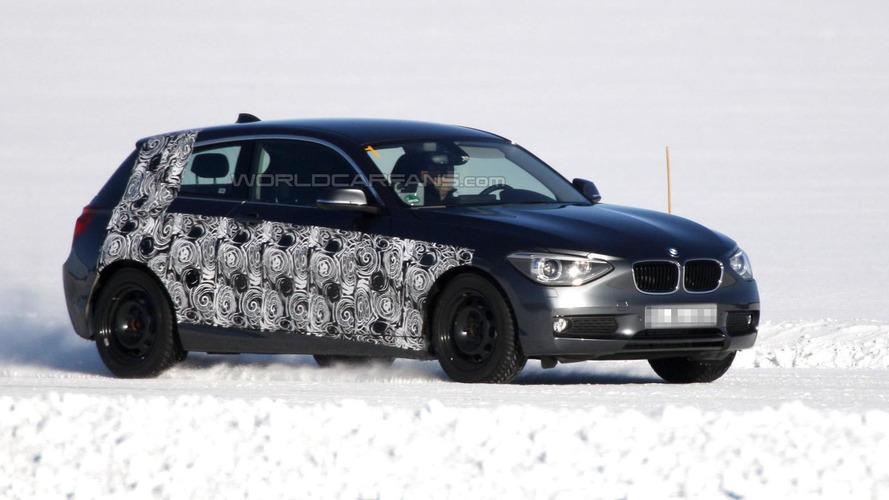 New three-door BMW 1-series spied testing