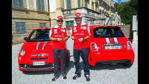 Alonso, Massa e la Abarth 695 Tributo Ferrari