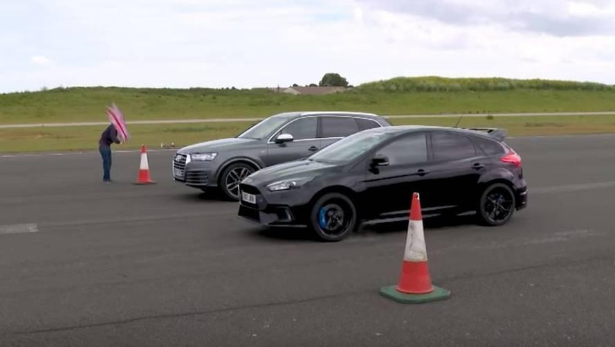 VIDÉO - Quand l'Audi SQ7 écrase la Ford Focus RS