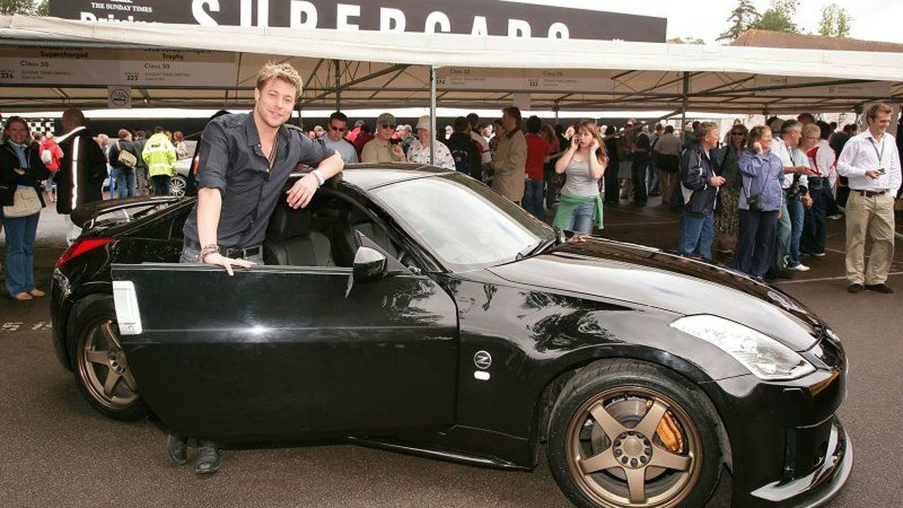 Duncan James with Nissan 350Z GT-S Concept