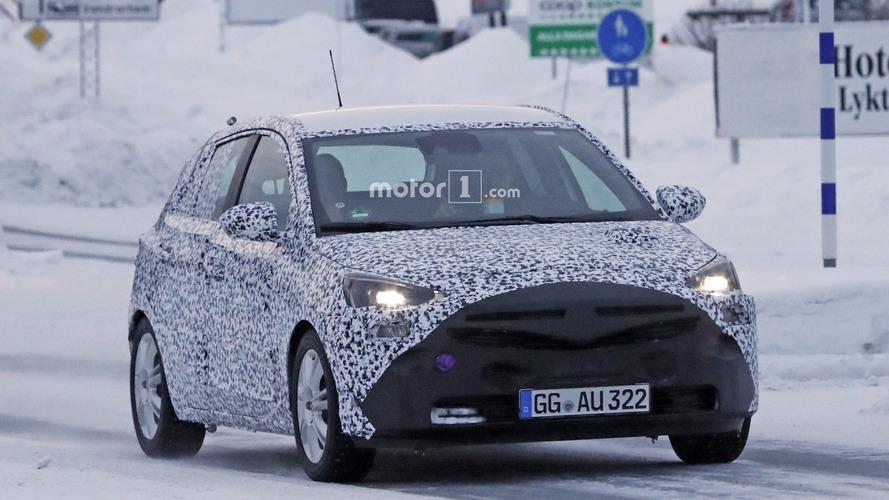 2019 Opel Corsa spy photos