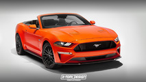 2018 Ford Mustang Convertible Rendering