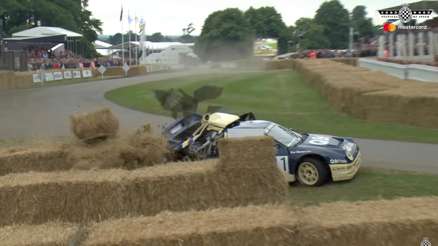 Video: Rare Ford RS200 Wrecks at Goodwood Festival of Speed