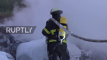 Fire at Porsche dealer in Hamburg