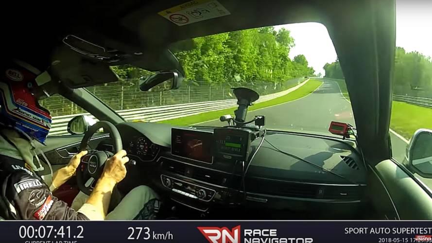 Nürburgring'de turlayan bir Audi RS4 Avant'ı içerisinden izleyin