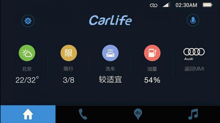 Audi, con Baidu e Huawei per la connettività