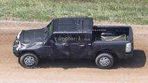 Jeep Wrangler pickup spy photos