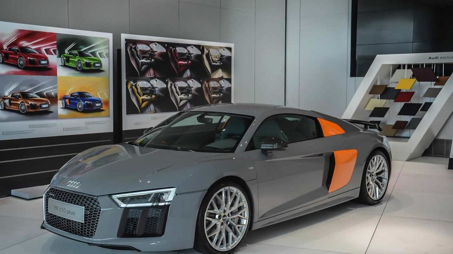 Audi exclusive gives the new R8 V10 Plus a two-tone look