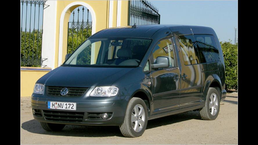 Länge zählt: Der VW Caddy Maxi Life ist 47 Zentimeter länger