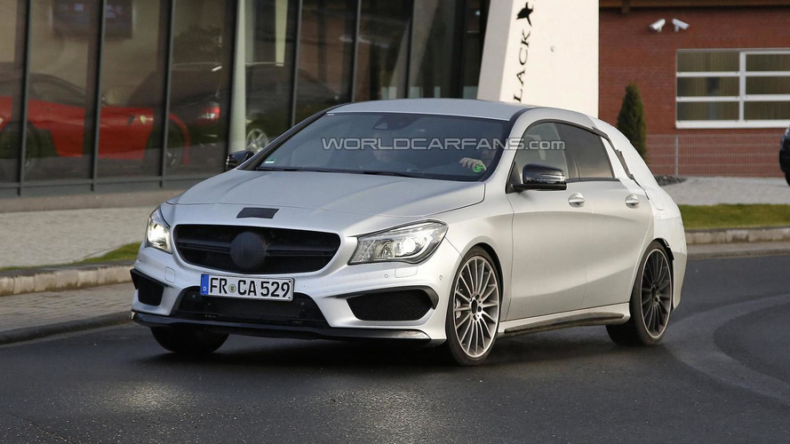 Mercedes-Benz CLA 45 AMG Shooting Brake spied once more