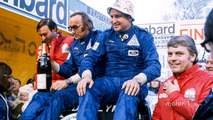 Podium- race winners Timo Makinen, Henry Liddon, second place Roger Clark, Tony Mason