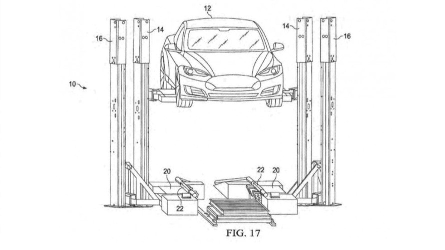 Tesla Files Patent For Trailer-based Battery Swap Station