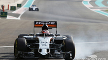 Nico Hulkenberg, Sahara Force India F1 VJM08 locks up under braking