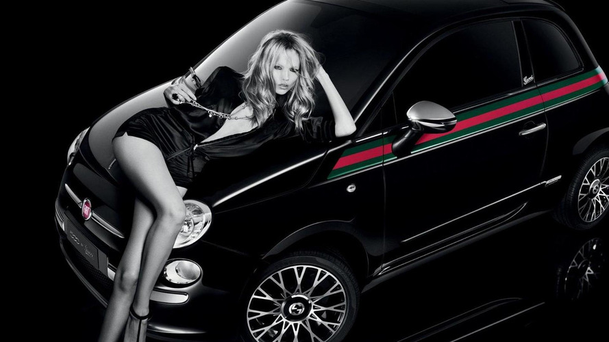 Fiat 500 by Gucci ad with leggy model