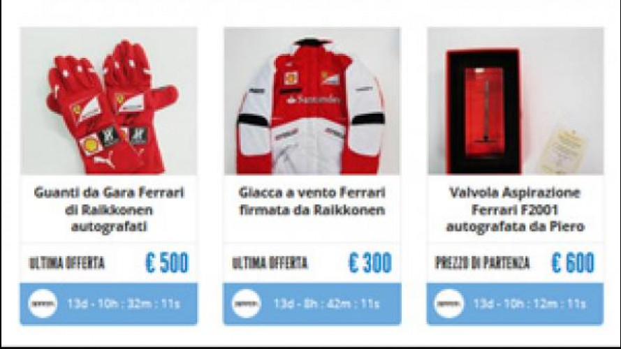 Ferrari, pezzi unici all'asta per beneficenza