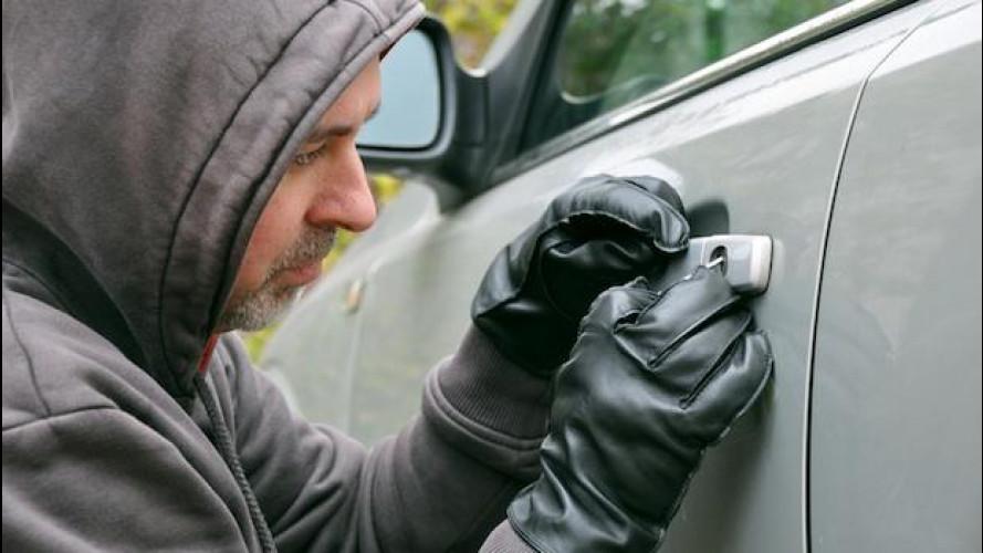 I furti d'auto sono in calo