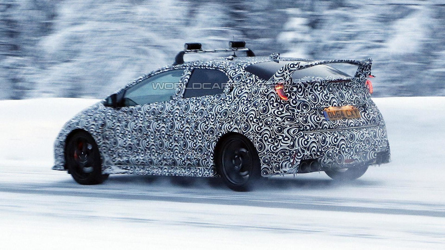 Honda Civic Type R spied during final testing