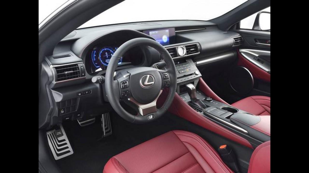 """Lexus RC F Sport de 306 cv é a versão de """"entrada"""" que estará no Salão de Genebra"""