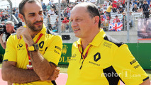(L to R): Cyril Abiteboul, Renault Sport F1 Managing Director with Frederic Vasseur, Renault Sport F1 Team Racing Director on the grid