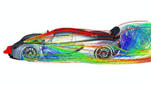 Hennessey Venom GT CFD (computational fluid dynamics) illustrations - 1200