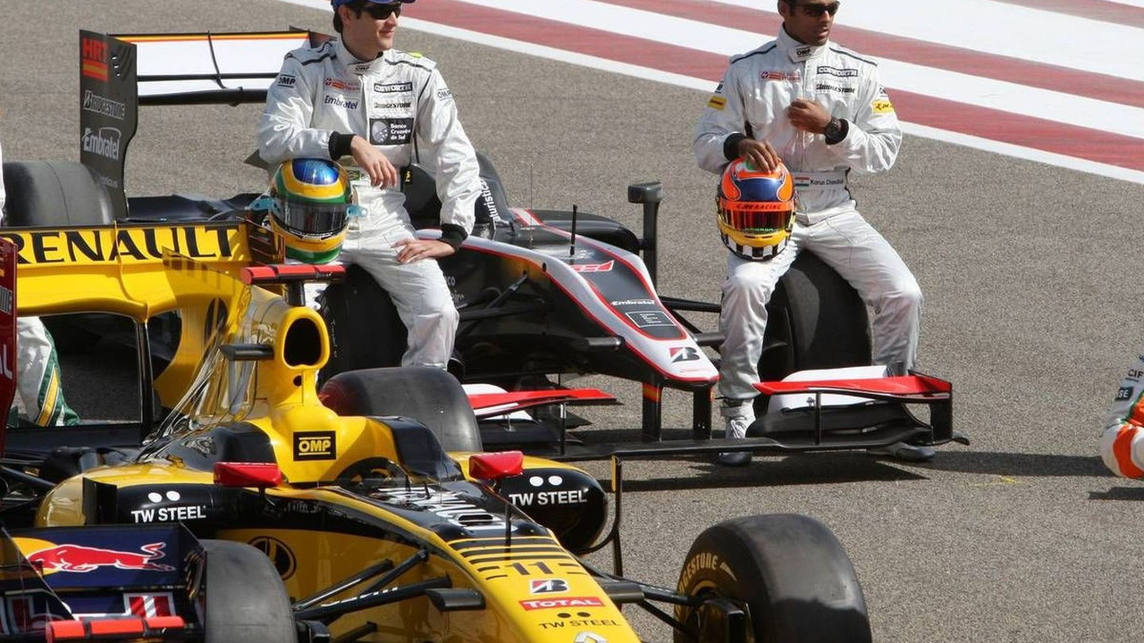 Bruno Senna (BRA), Hispania Racing F1 Team, Karun Chandhok (IND), Hispania Racing F1 Team, Bahrain Grand Prix, 12.03.2010 Sakhir, Bahrain