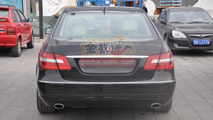 Mercedes E-Class long wheelbase spotted outside Beijing Auto Show