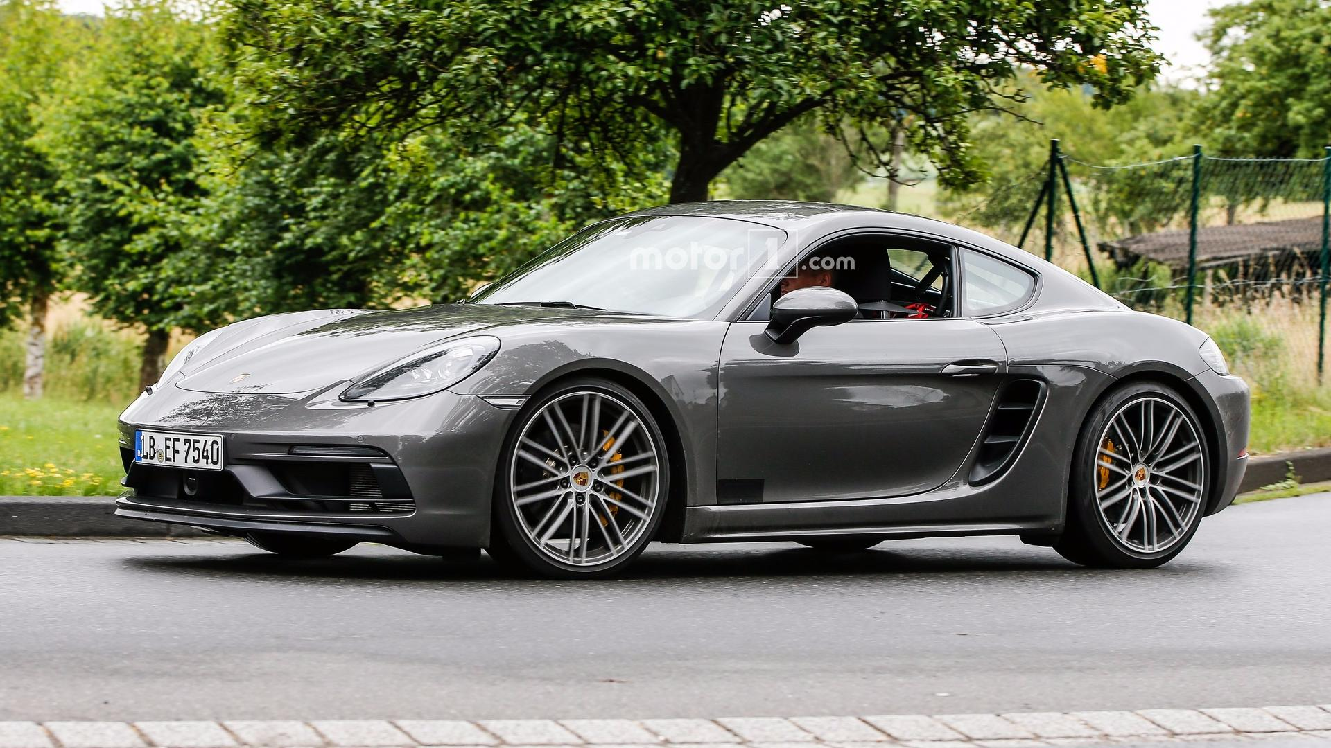 2018 porsche cayman gts spied virtually undisguised. Black Bedroom Furniture Sets. Home Design Ideas