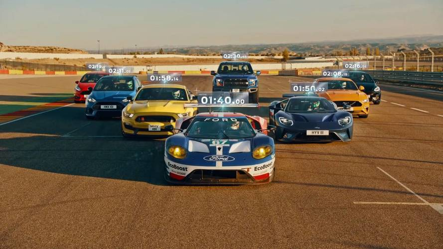 Eight Ford Performance Models Duel On Track