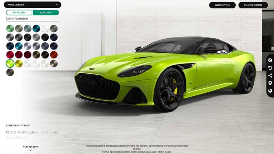 Aston Martin Launches DBS Superleggera Configurator