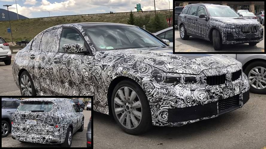 2019 BMW 3 Serisi, X5 ve X7'nin casus videolarına göz atın