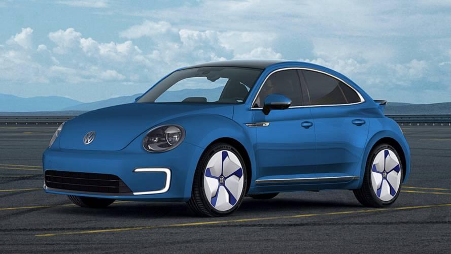 Így mutatna négyajtós elektromos autóként a Volkswagen Beetle