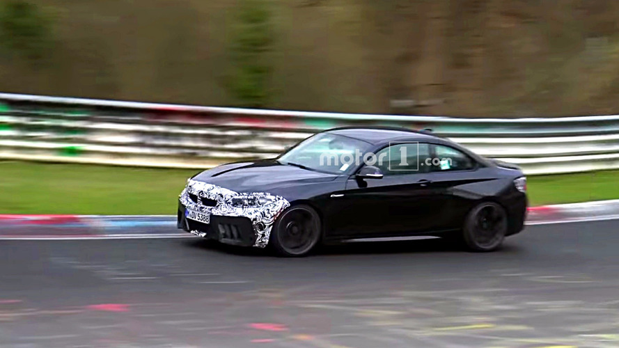 See This BMW M2 CS Prototype Torturing Tires At The Nurburgring