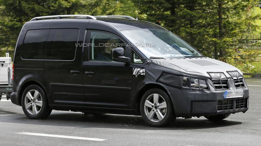 2015 Volkswagen Caddy spied in the Alps