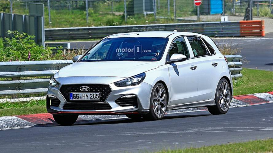 Hyundai i30 N-Line captured completely uncovered on the 'Ring