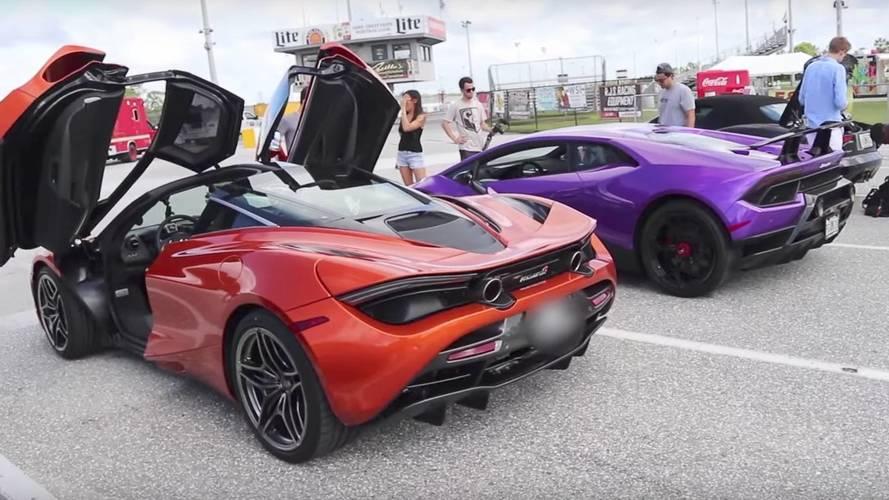 McLaren 720S, 400 metrede oldukça etkileyici