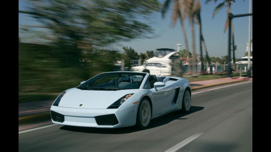 Lamborghini a gonfie vele...