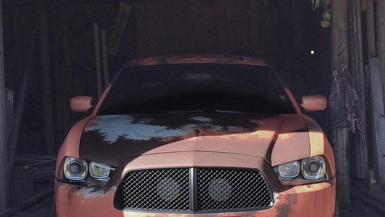 Worn-looking car wrap