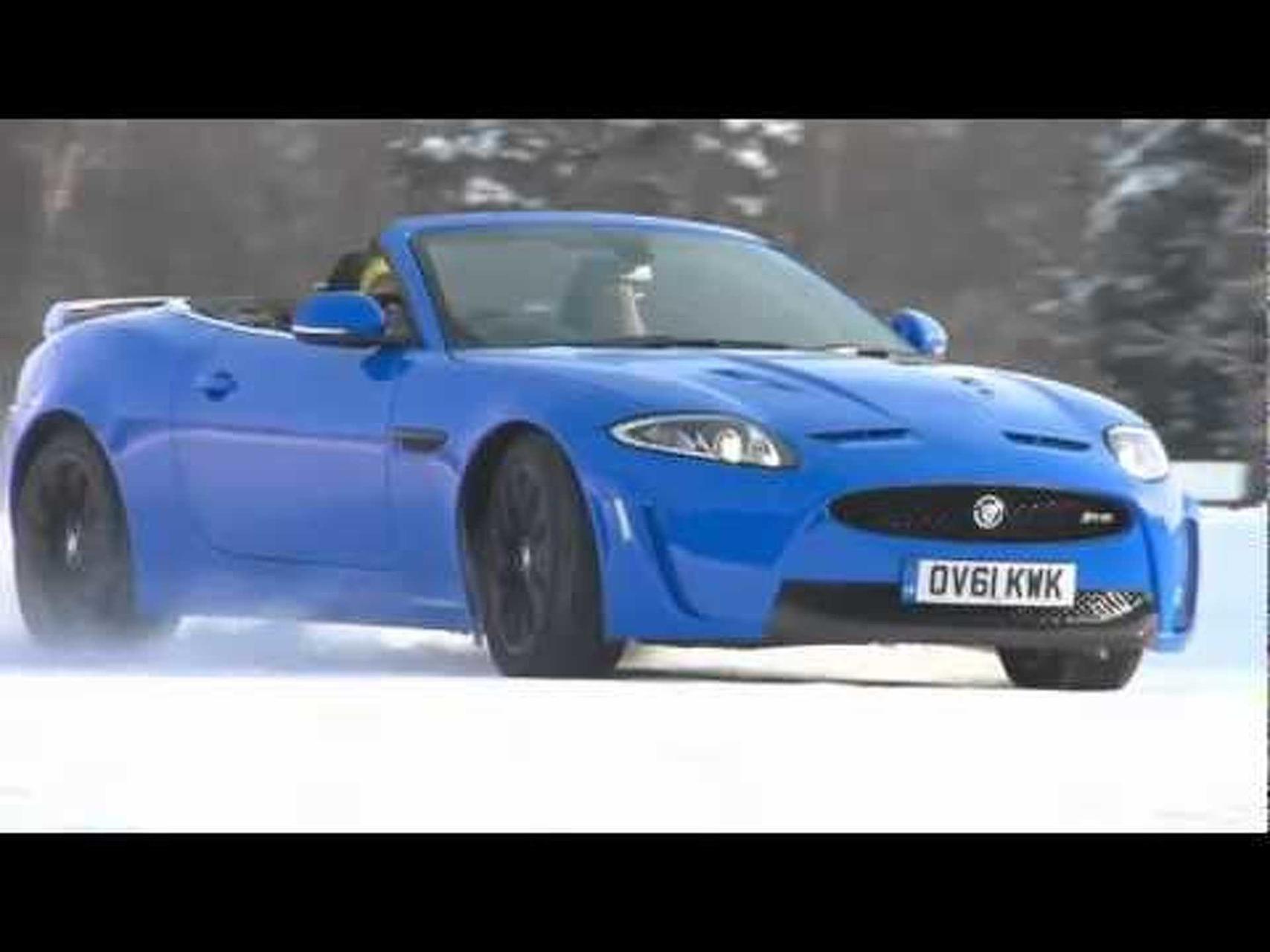 Jaguar XKR-S Convertible on Ice