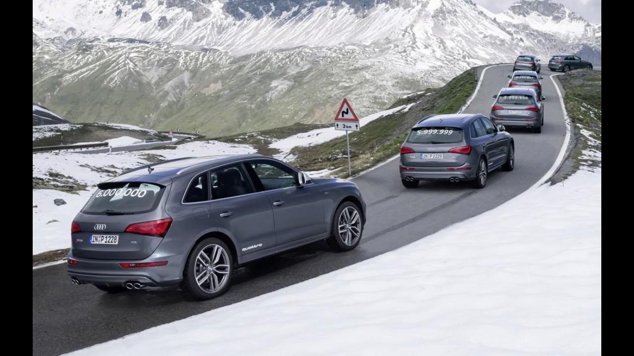 Audi comemora 6 milhões de veículos produzidos com tração integral Quattro