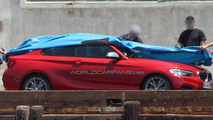 BMW M235i spied undisguised on photo shoot