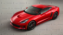 Mid-engined Chevy Corvette C8 render
